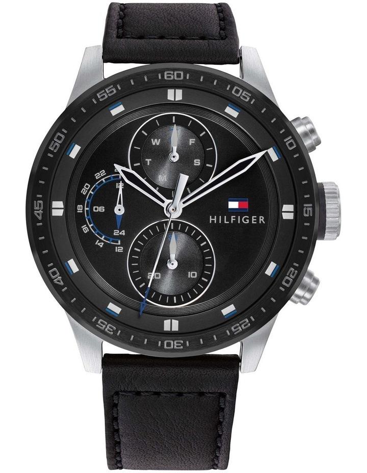 Tommy Hilfiger Black Leather Men's Multi-function Watch - 1791810 image 1