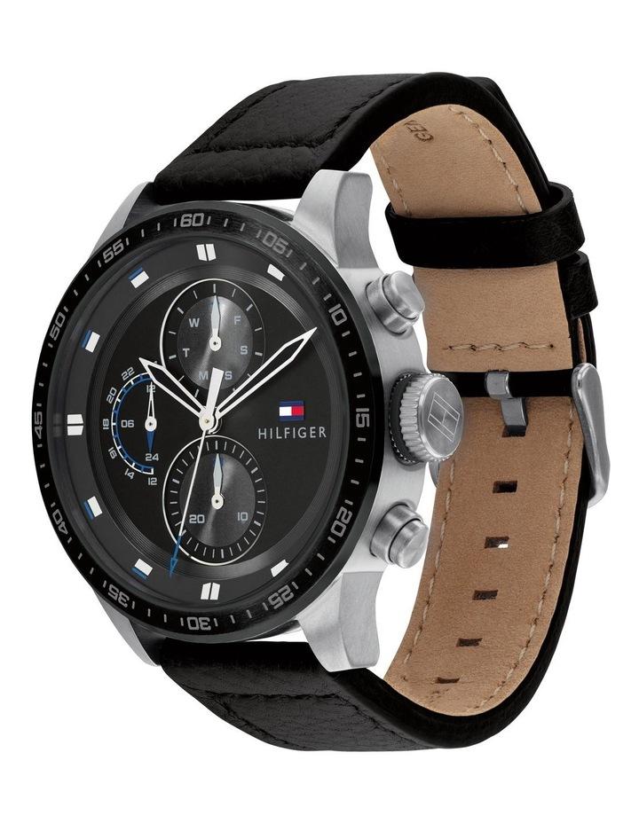 Tommy Hilfiger Black Leather Men's Multi-function Watch - 1791810 image 2