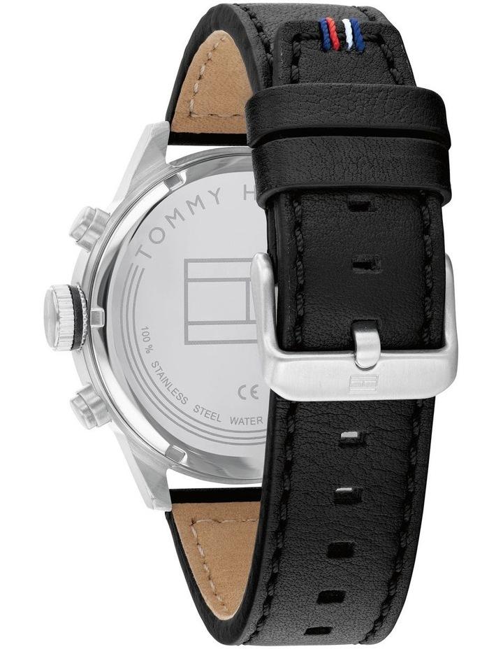 Tommy Hilfiger Black Leather Men's Multi-function Watch - 1791810 image 3