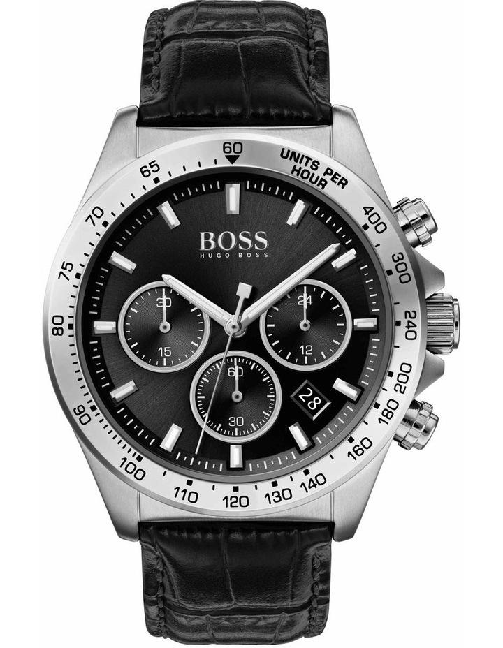 Hugo Boss Hero Black Leather Men's Watch - 1513752 image 1