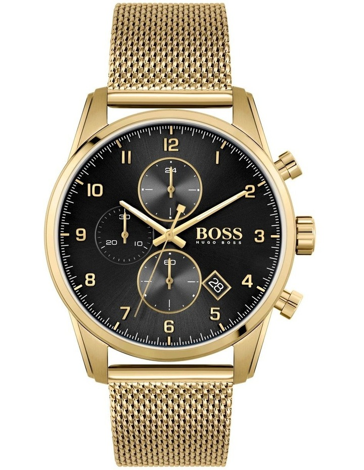 Hugo Boss Skymaster Gold Mesh Men's Chrono Watch - 1513838 image 1