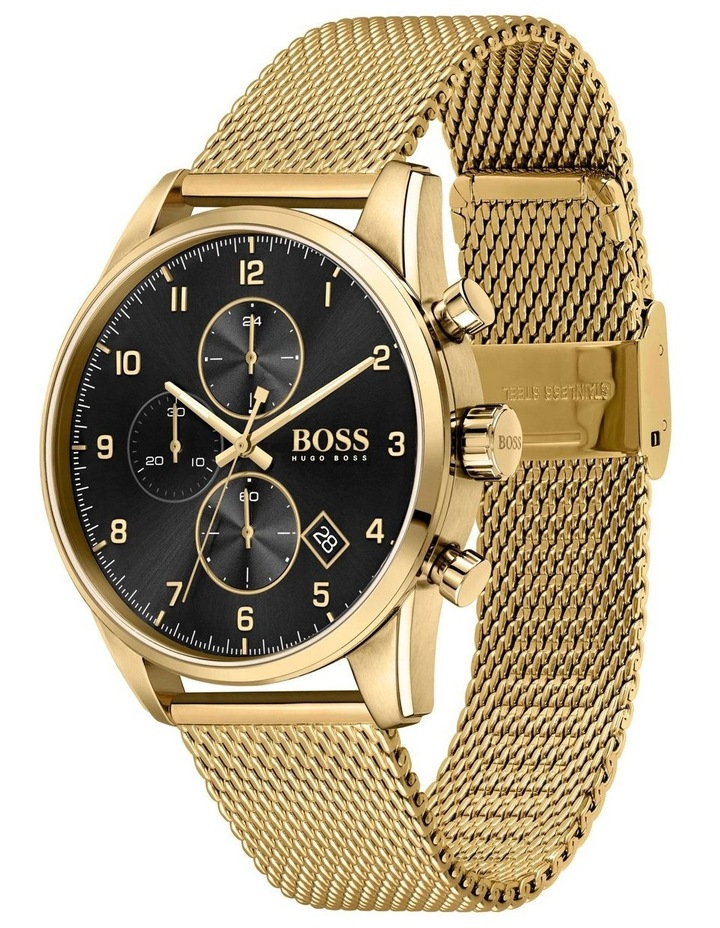 Hugo Boss Skymaster Gold Mesh Men's Chrono Watch - 1513838 image 2
