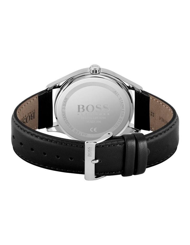 Quartz Black Leather Men's Watch image 2