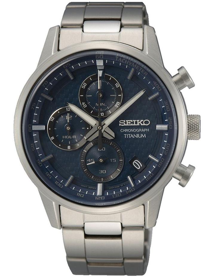 Titanium Chronograph Blue Dial Watch image 1