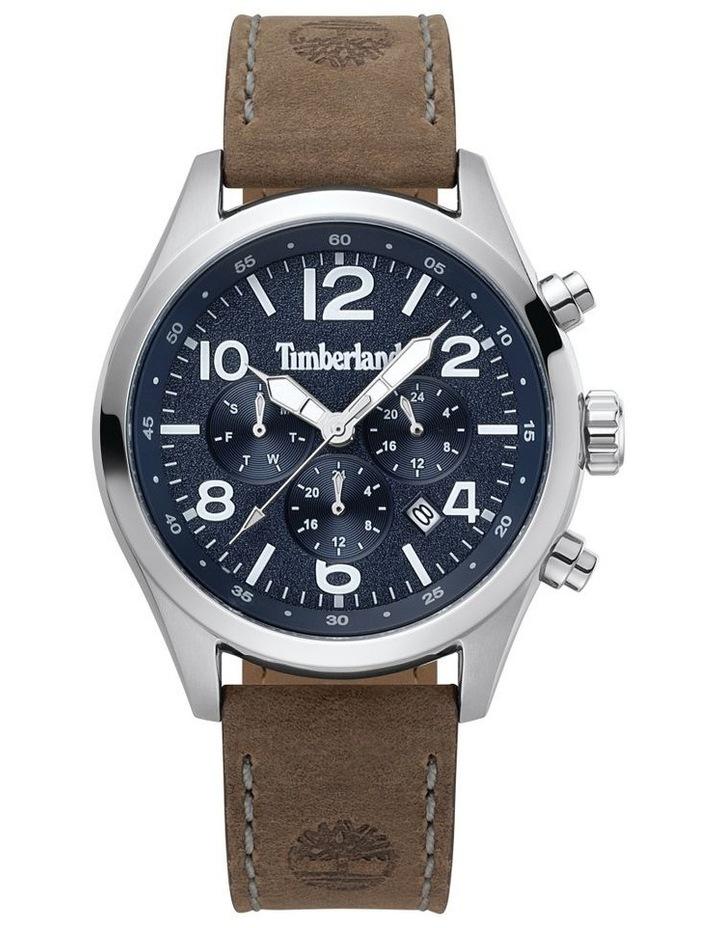 Timberland Ashmont Tan Leather Strap Silver Metal Watch image 1