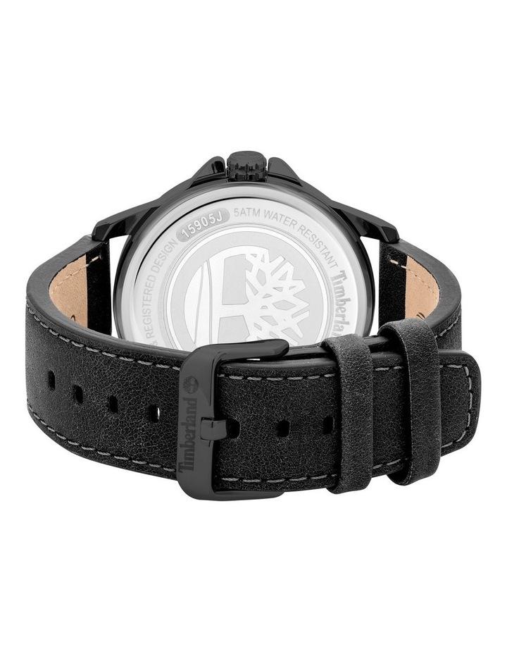Timberland Bernardston Black Leather Strap Blue Metal Watch image 3