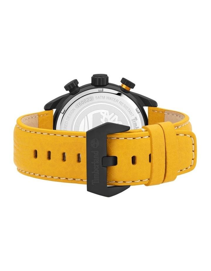 Timberland Millway Orange Brown Leather Strap Black Metal Watch image 3