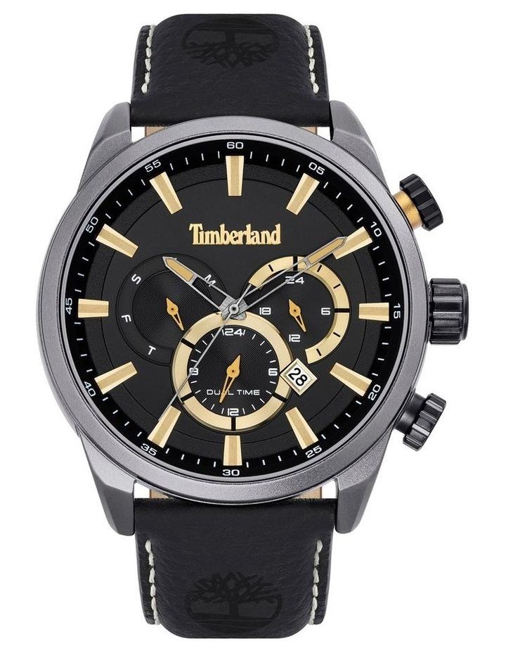Timberland Millway Black Leather Strap Metal Watch image 1