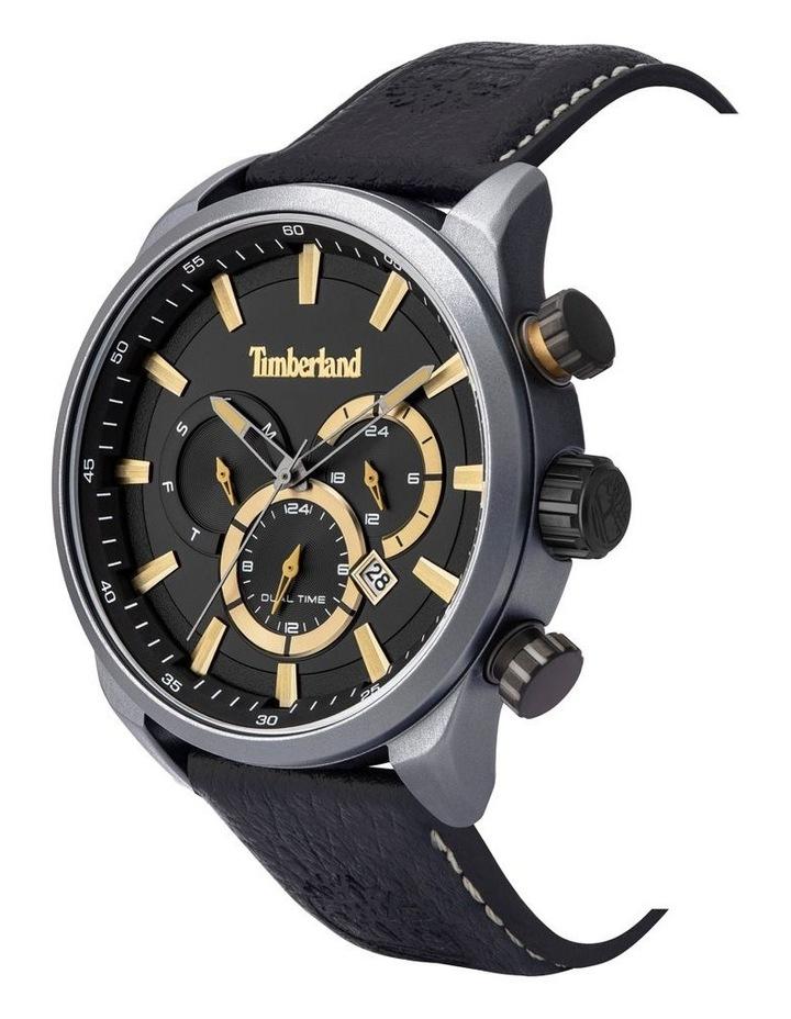 Timberland Millway Black Leather Strap Metal Watch image 2