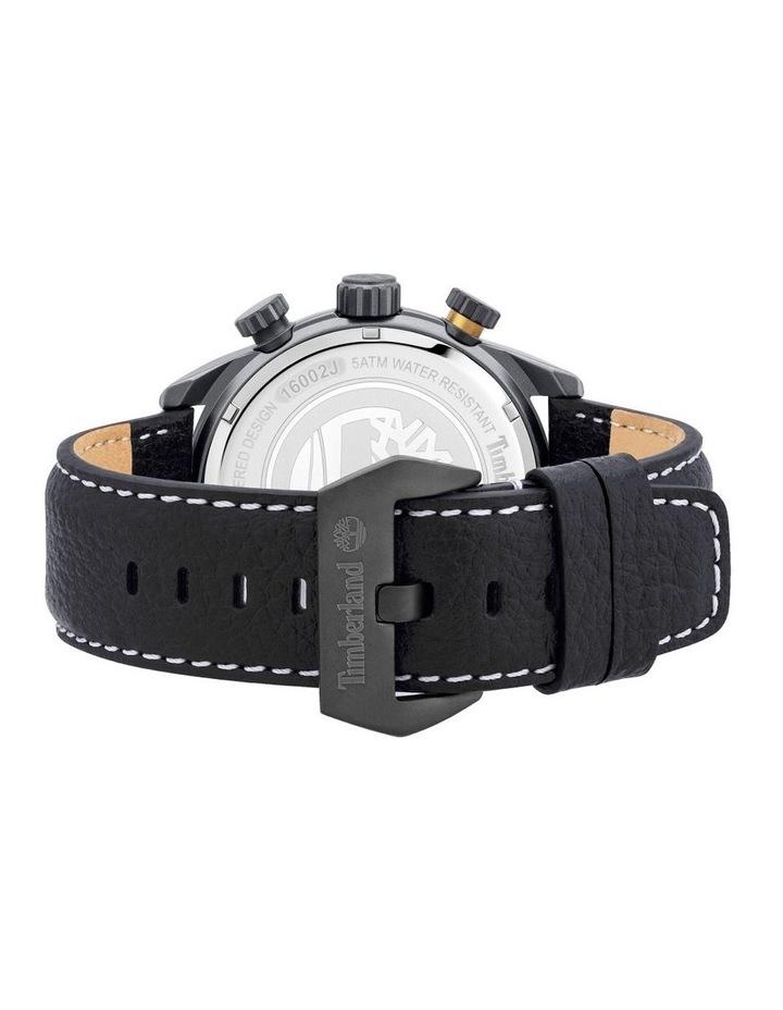 Timberland Millway Black Leather Strap Metal Watch image 3
