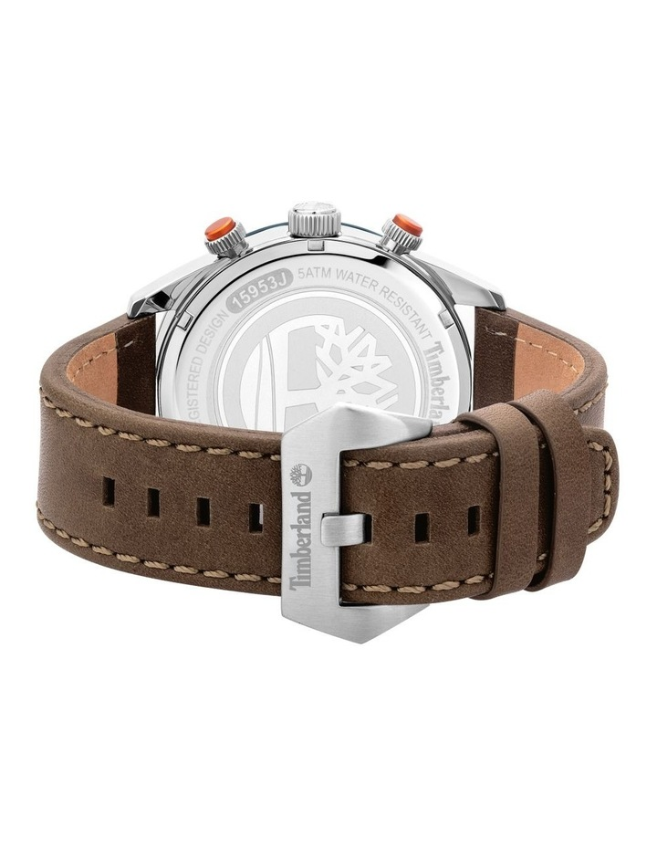 Timberland Ridgeview Brown Leather Strap Silver Metal Watch image 3