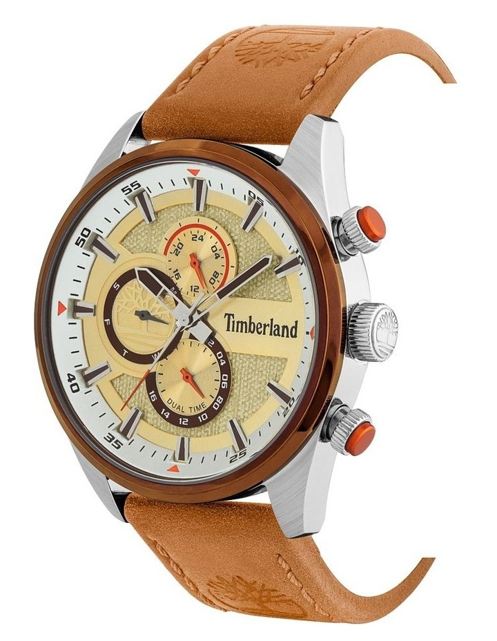 Timberland Ridgeview Tan Leather Strap Silver Metal Watch image 2