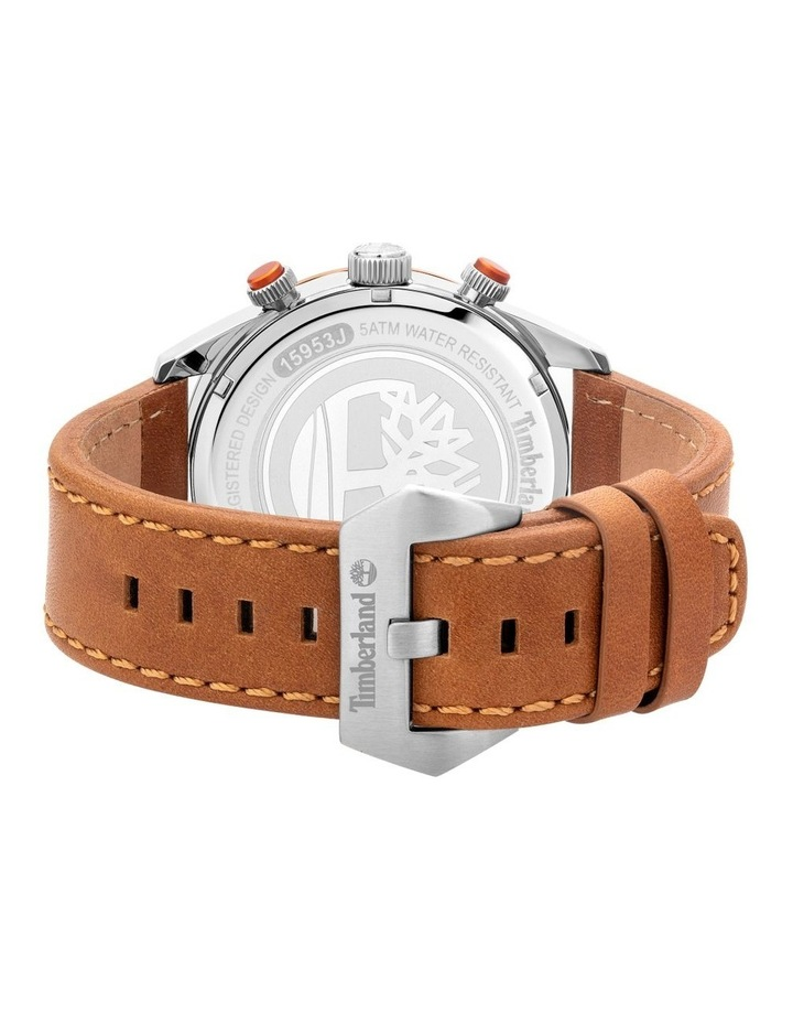 Timberland Ridgeview Tan Leather Strap Silver Metal Watch image 3