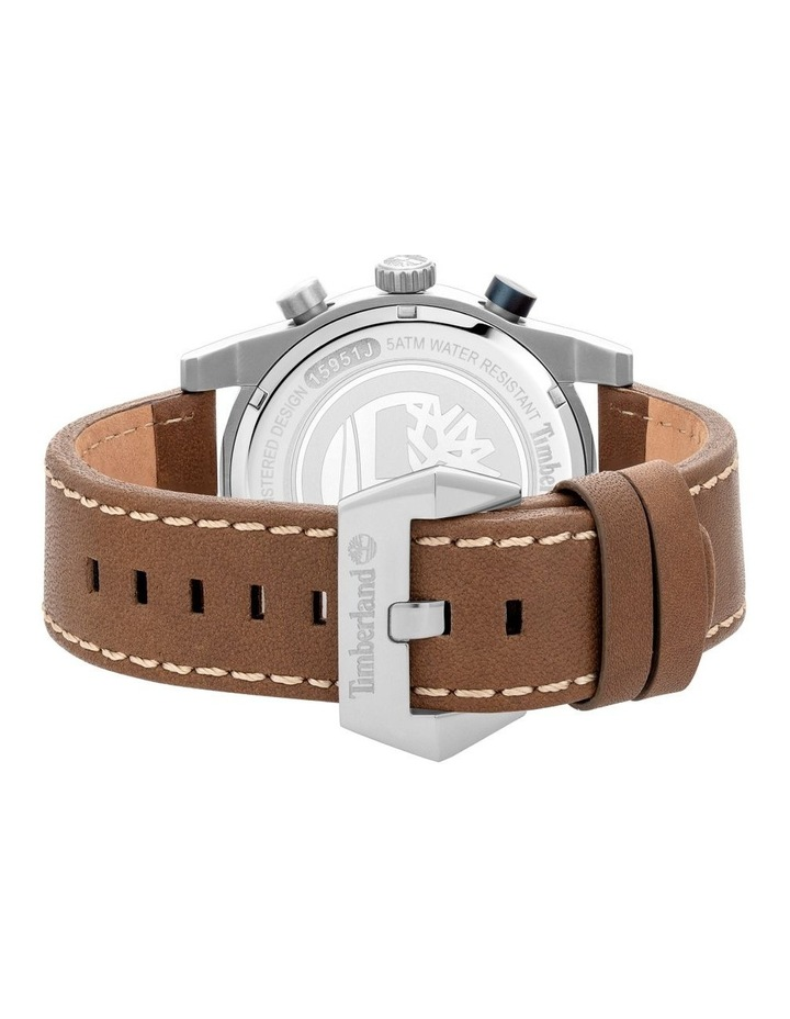 Timberland Sherbrook Brown Leather Strap Silver Metal Watch image 3
