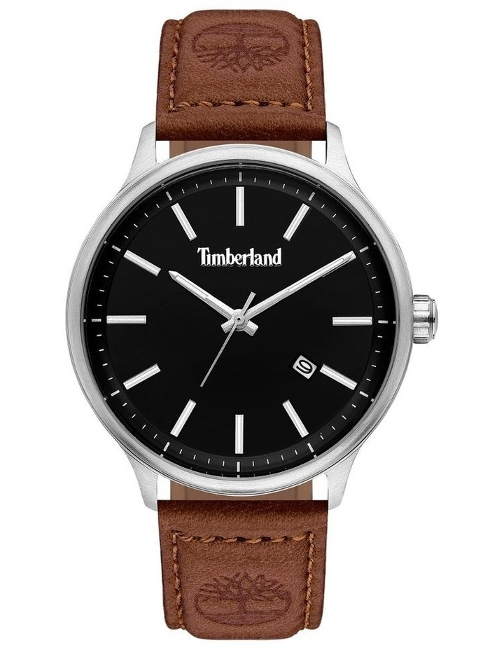 Timberland Allendale Brown Leather Strap Silver Metal Watch image 1