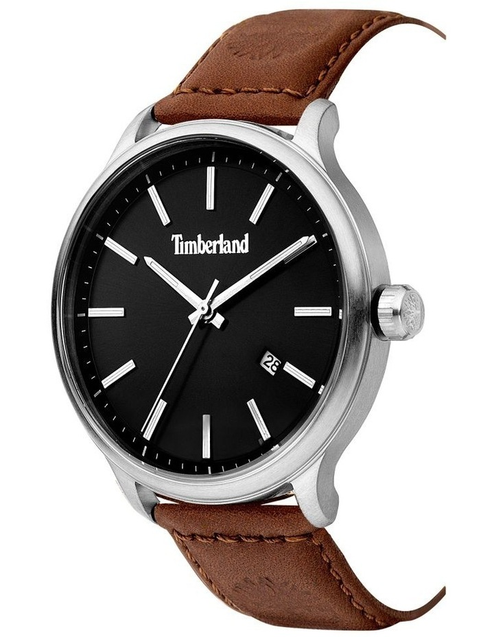 Timberland Allendale Brown Leather Strap Silver Metal Watch image 2