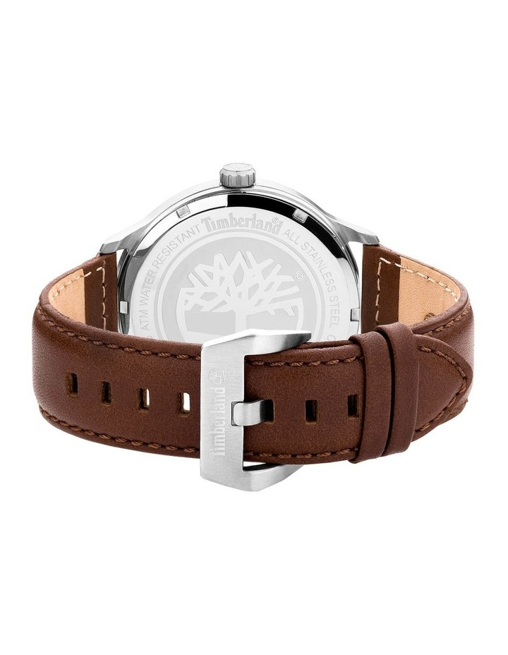 Timberland Allendale Brown Leather Strap Silver Metal Watch image 3