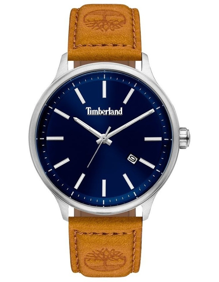 Timberland Allendale Tan Leather Strap Dark Blue Silver Metal Watch image 1