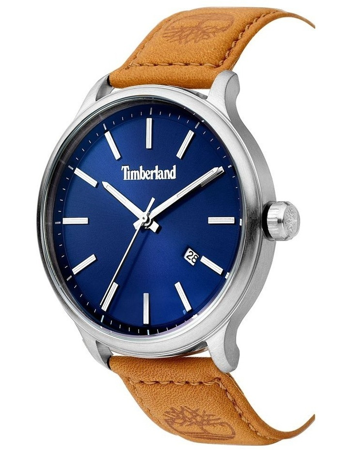 Timberland Allendale Tan Leather Strap Dark Blue Silver Metal Watch image 2