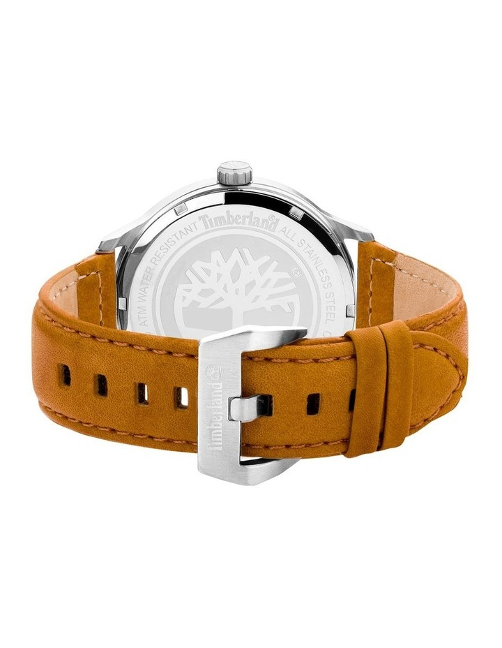 Timberland Allendale Tan Leather Strap Dark Blue Silver Metal Watch image 3