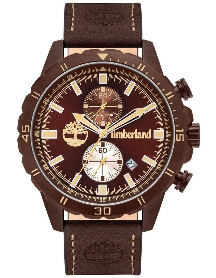 Timberland Dunford Brown Leather Watch image 1