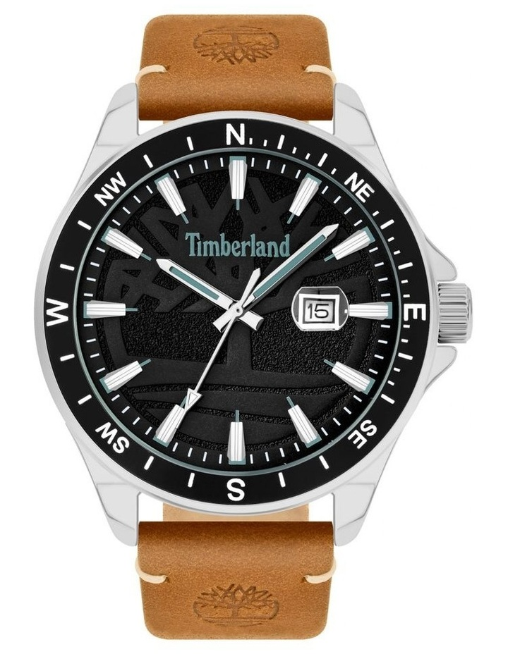 Timberland Swampscott Camel Leather Black Dial Watch image 1