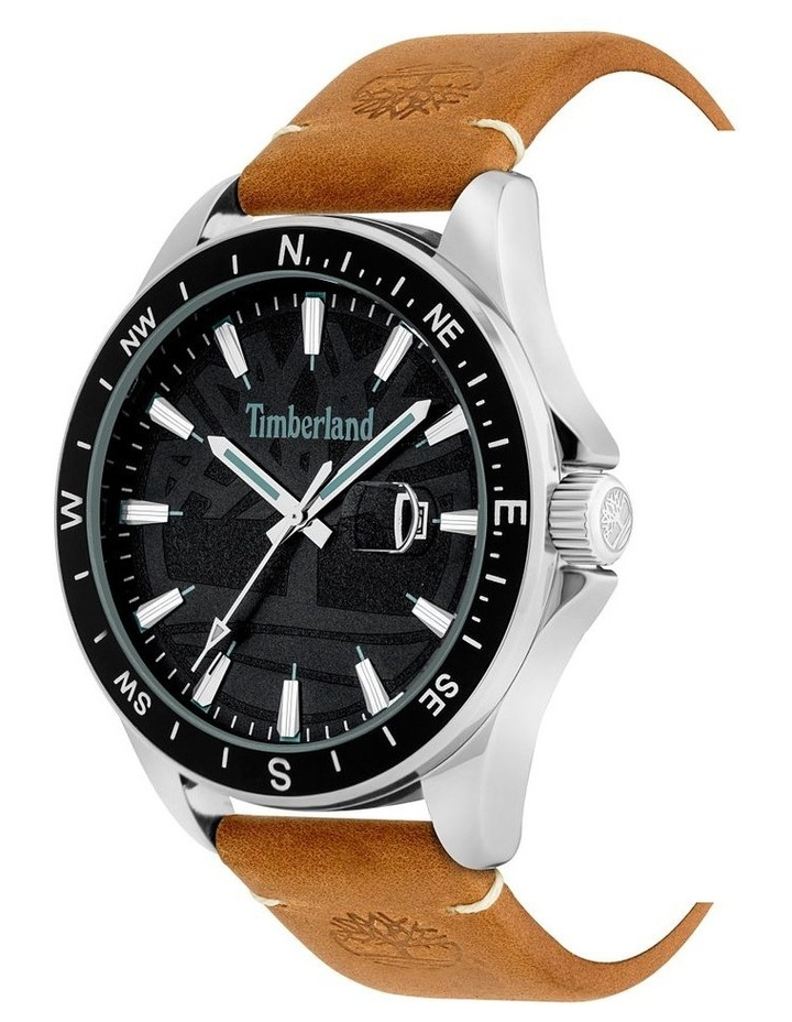 Timberland Swampscott Camel Leather Black Dial Watch image 2