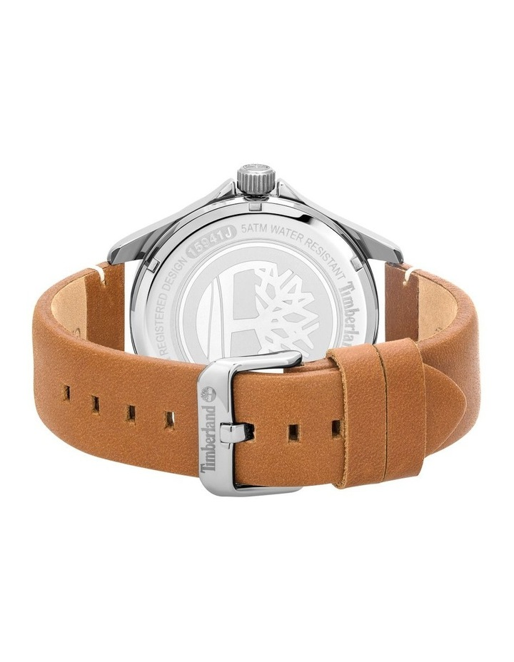 Timberland Swampscott Camel Leather Black Dial Watch image 3