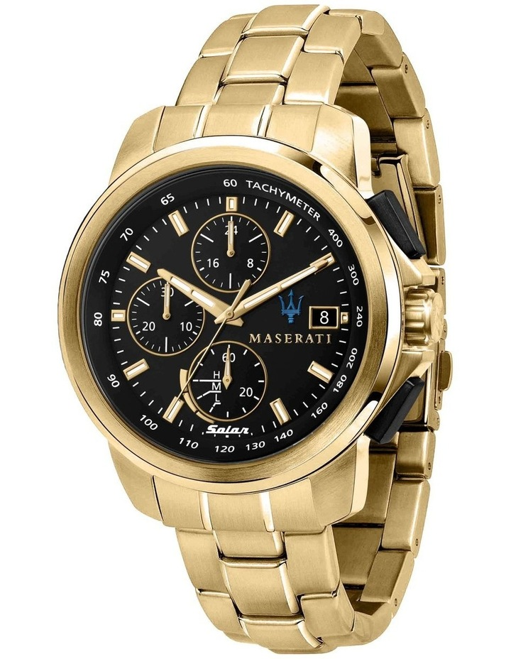 Successo Solar Gold Gold Stainless Steel Chronograph Watch image 1