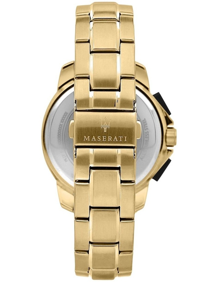 Successo Solar Gold Gold Stainless Steel Chronograph Watch image 3