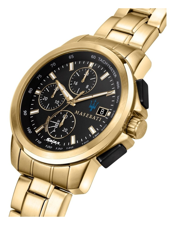 Successo Solar Gold Gold Stainless Steel Chronograph Watch image 5