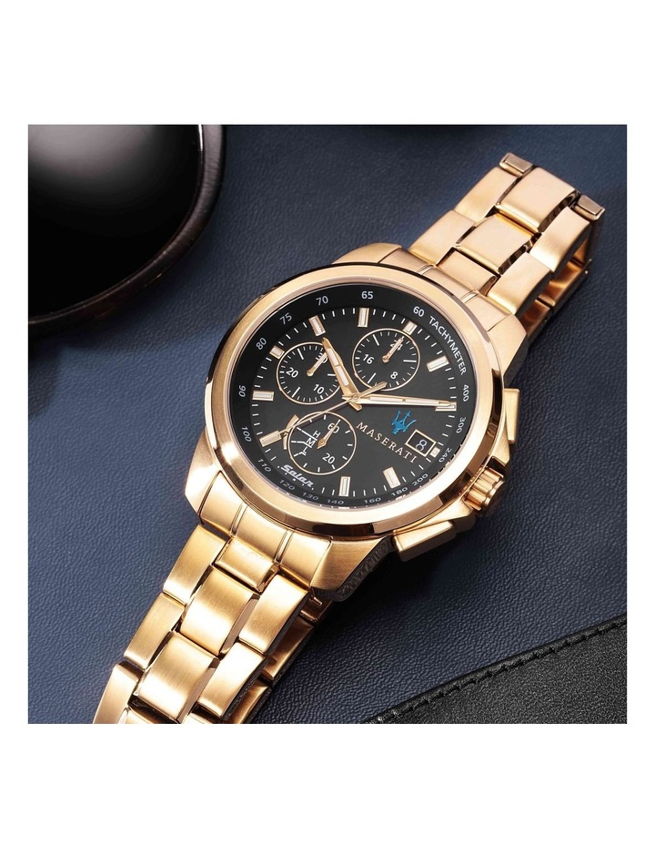 Successo Solar Gold Gold Stainless Steel Chronograph Watch image 6