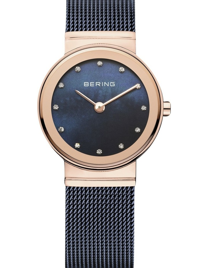 Ladies Classic Collection Blue/Rose Milanese Analog Watch 10126-367 image 1