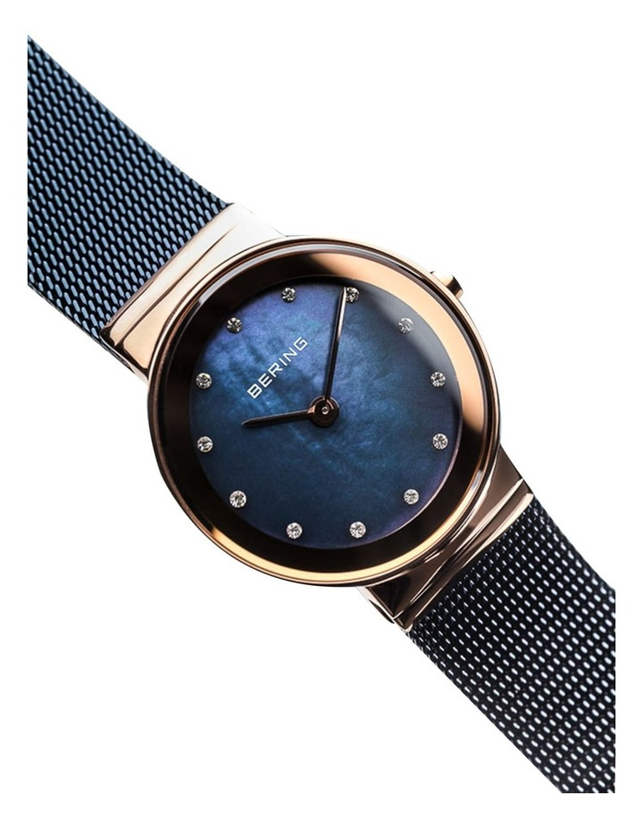 Ladies Classic Collection Blue/Rose Milanese Analog Watch 10126-367 image 2