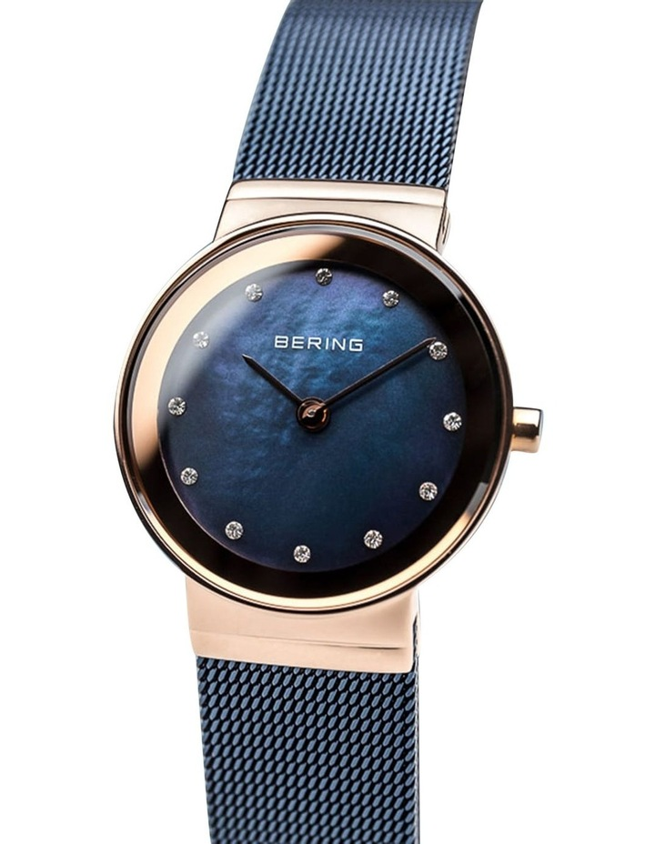 Ladies Classic Collection Blue/Rose Milanese Analog Watch 10126-367 image 3