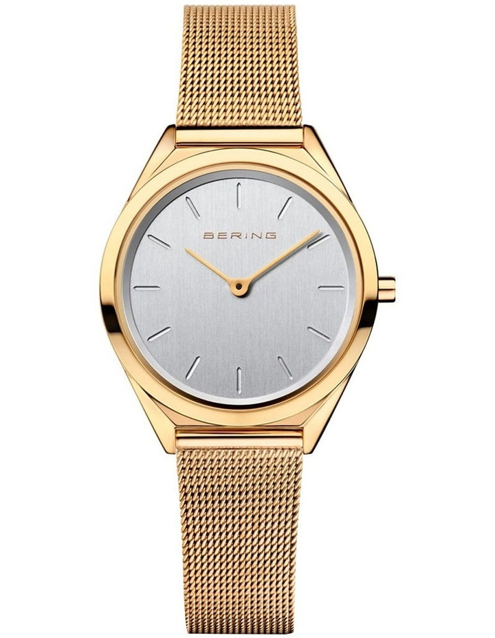 Ultra Slim Gold Gold Milanese Stainless Steel Analog Watch 17031-334 image 1