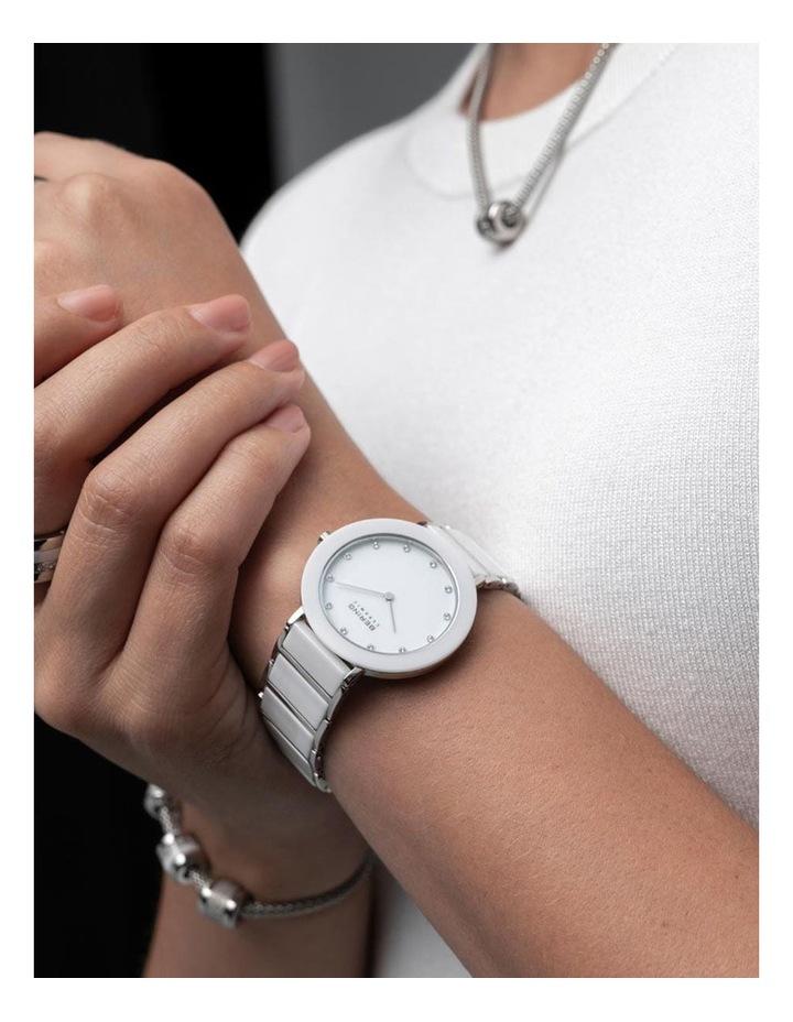 Ladies Ceramic Collection White Ceramic Analog Watch 11435-754 image 2