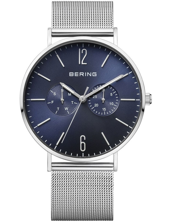 Combo Gents Classic Collection Blue Milanese Stainless Steel Analog Watch 14240-307 image 1