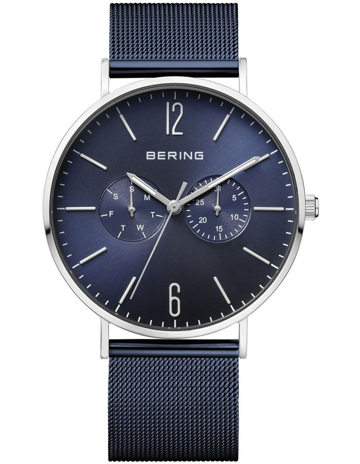 Combo Gents Classic Collection Blue Milanese Stainless Steel Analog Watch 14240-307 image 2
