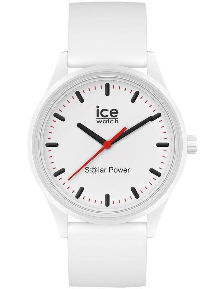 Solar Power Polar Medium White Silicone Solar Watch image 1