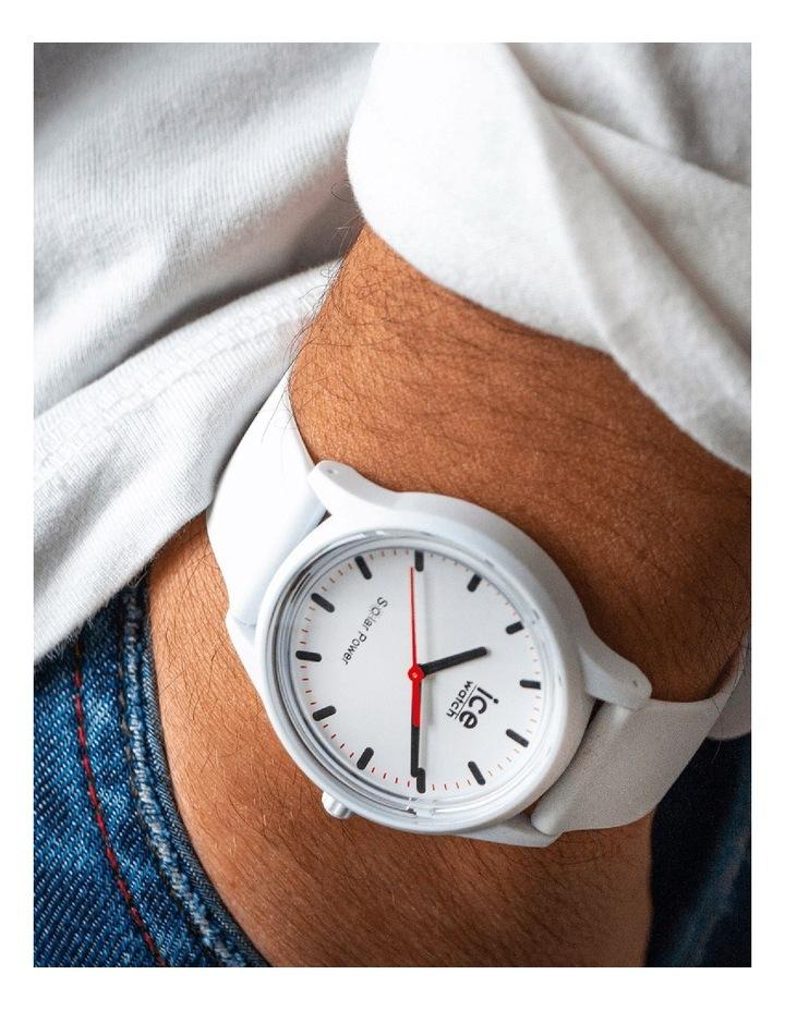 Solar Power Polar Medium White Silicone Solar Watch image 2
