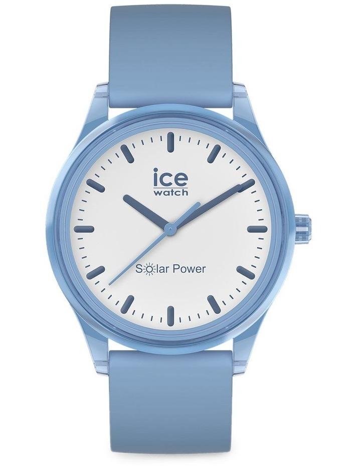 Solar Power Rain Medium Sky Blue Silicone Solar Watch image 1