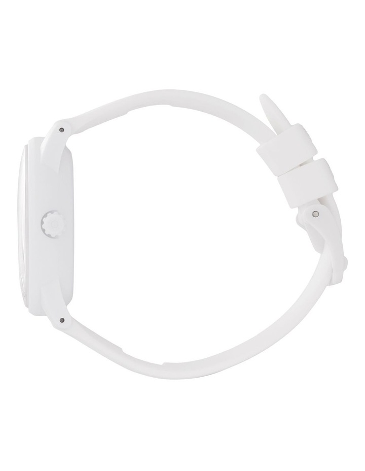 Solar Power Sunset Small White Silicone Solar Watch image 4