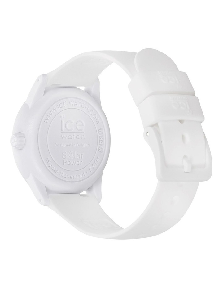 Solar Power Sunset Small White Silicone Solar Watch image 5