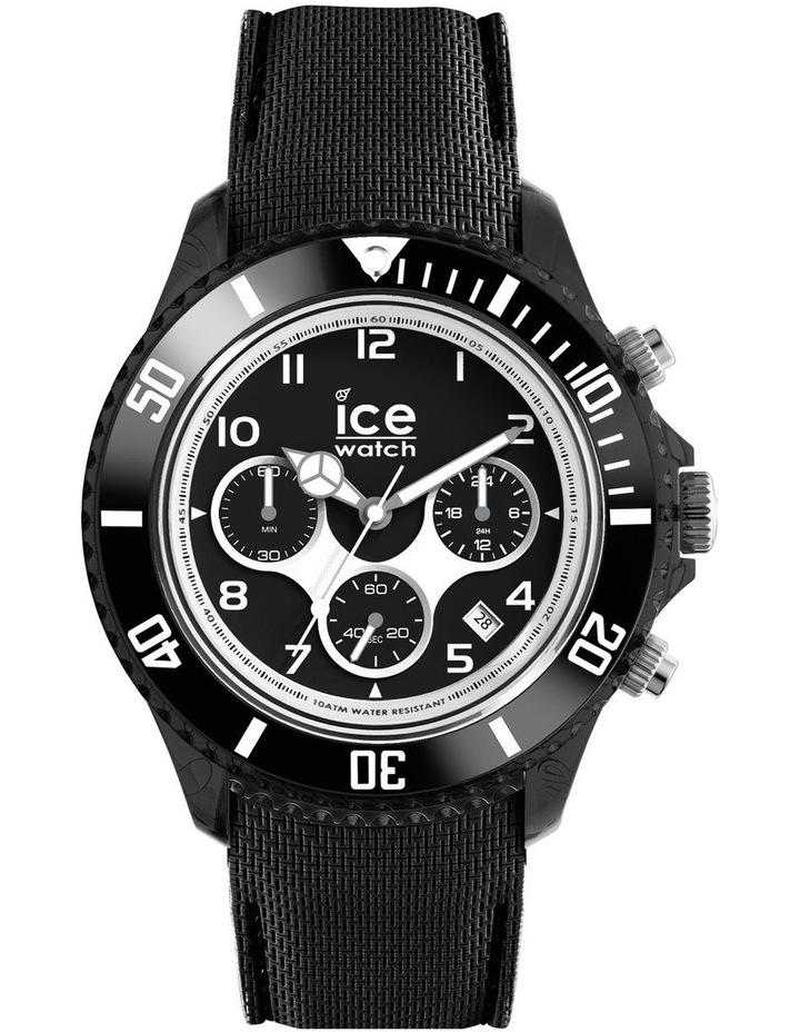 Ice Dune Large Black Silicone Chronograph Watch image 1