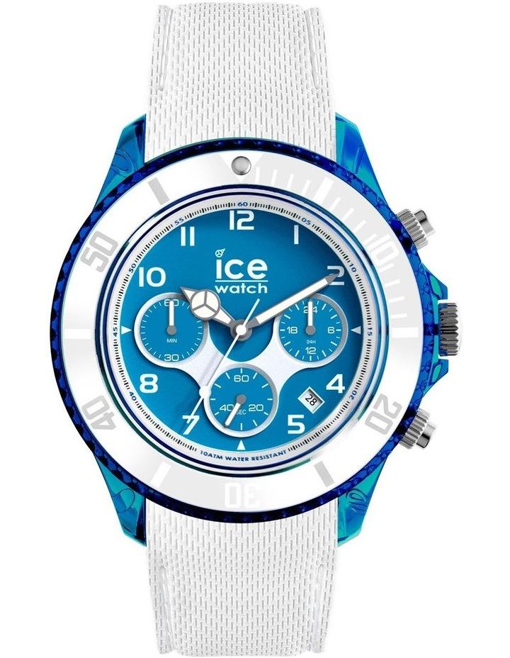 Ice Dune White Superman Blue Large White Silicone Chronograph Watch image 1
