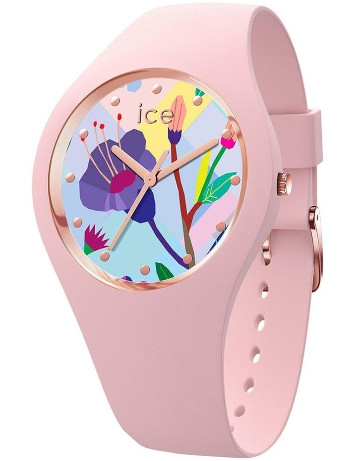 Ice Flower Garden Small Pink Silicone Quartz Watch image 1