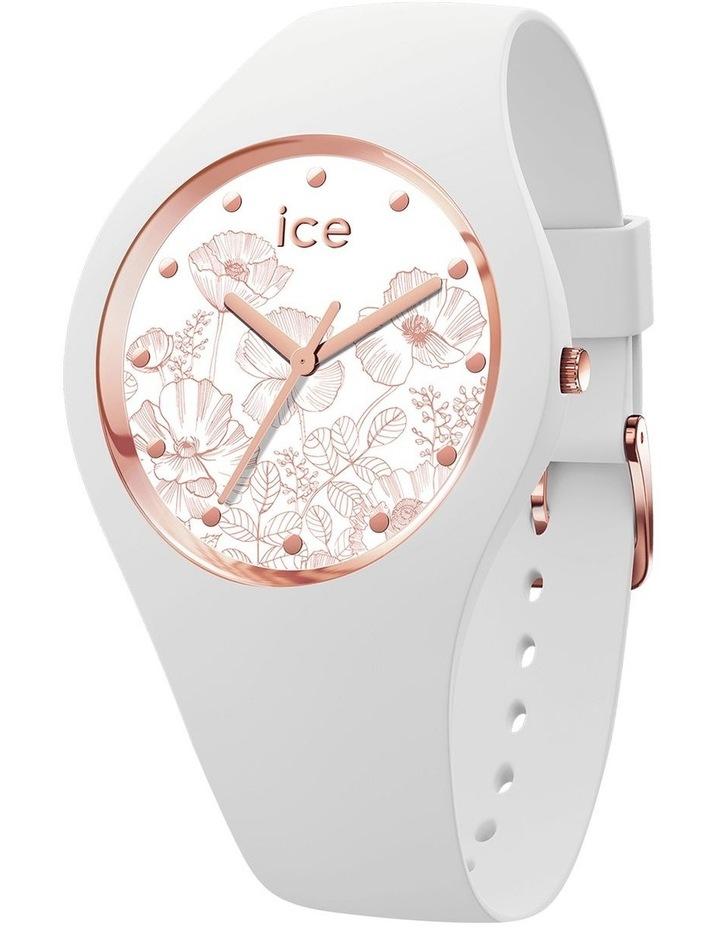 Ice Flower Spring Medium White Silicone Quartz Watch image 1