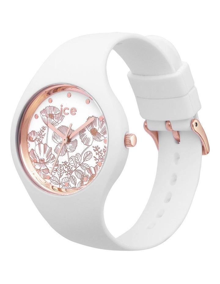 Ice Flower Spring Medium White Silicone Quartz Watch image 3