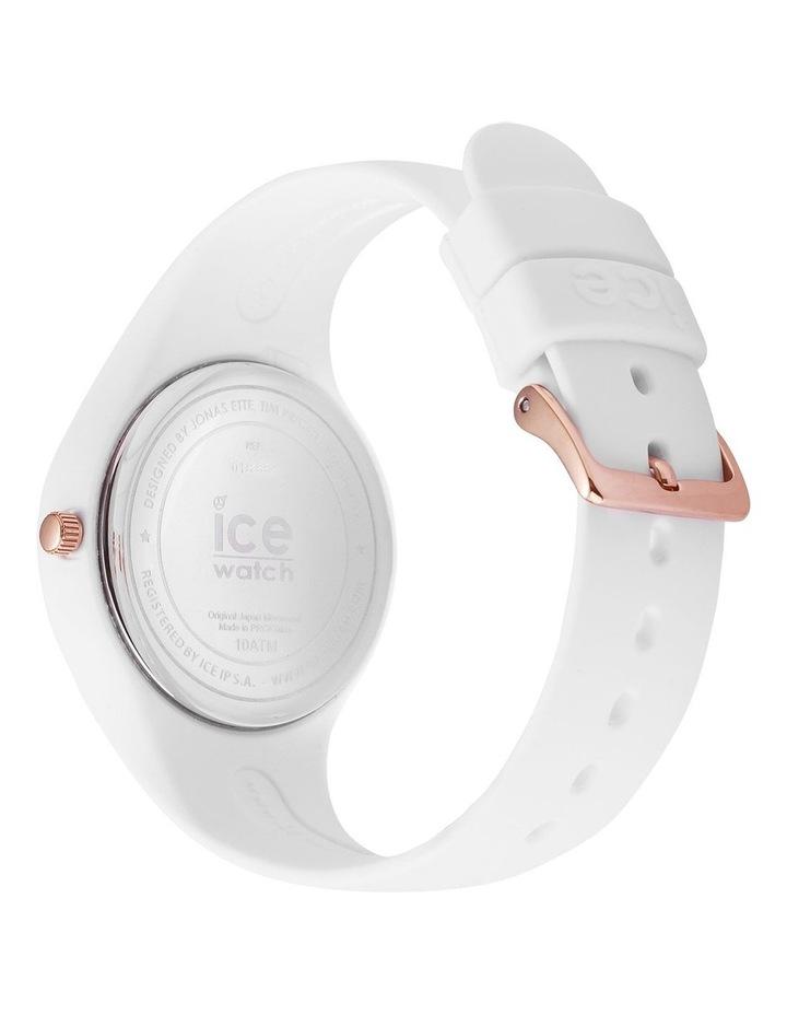 Ice Flower Spring Medium White Silicone Quartz Watch image 5